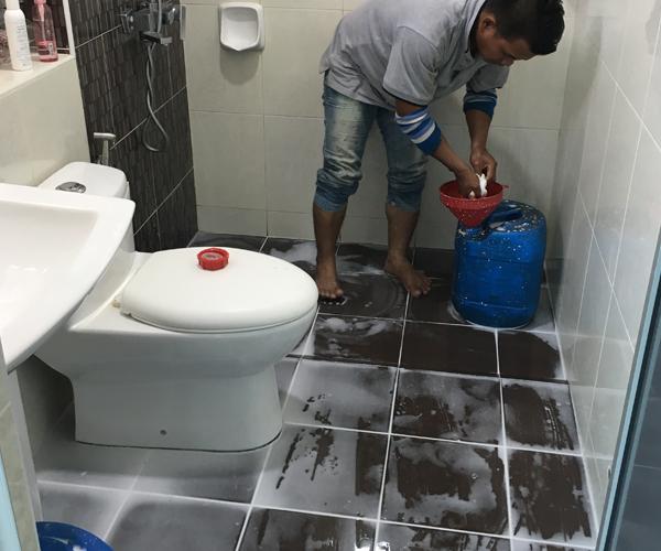 Repair toilet leaking ss waterproofing services in